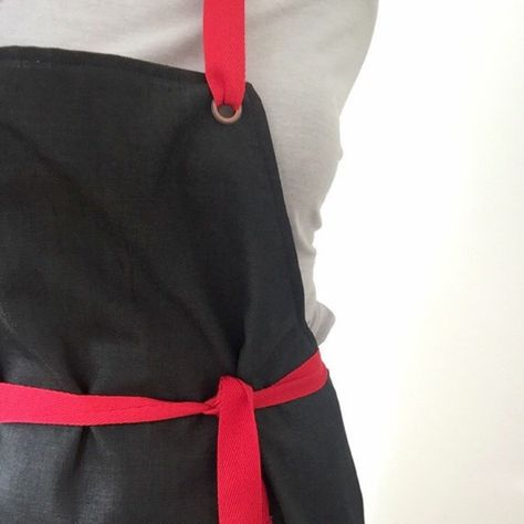 Cool coated denim apron - available with or without pocket <3