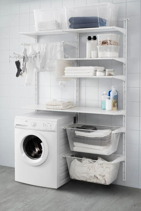 Versatile storage for anywhere in your home. That's the IKEA ALGOT series. Because ALGOT can be easily customized to fit your space and storage needs, it can be used throughout your home, and in a combination that's right for you.