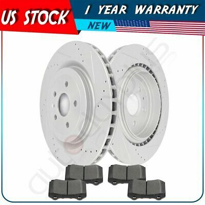 For Chevy Camaro Front+Rear Drill Slot Brake Rotors /& Ceramic Pads