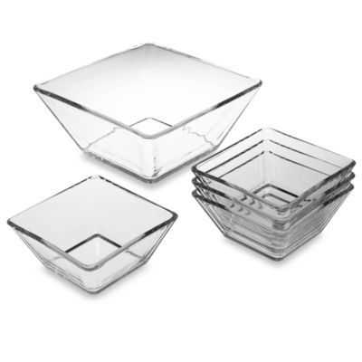 libbey tempo square bowl salad set bed bath u0026 beyond