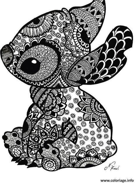 Cute Coloring Page Stich Stitch Coloring Pages Disney Stitch