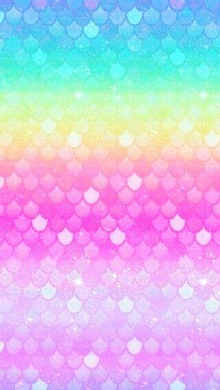 Rainbow Scales With Images Mermaid Wallpapers Rainbow