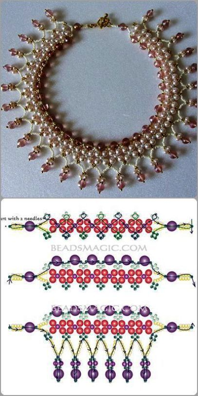 Best Seed Bead Jewelry 2017 schema for Pearls& Roses ~ Seed Bead Tutorials is part of Beaded jewelry 2017 - Seed bead jewelry schema for Pearls& Roses ~ Seed Bead Tutorials Discovred by Linda
