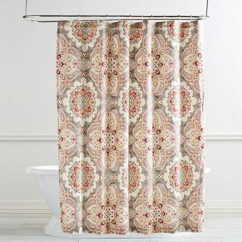 aqua blue fabric shower curtain 70 by