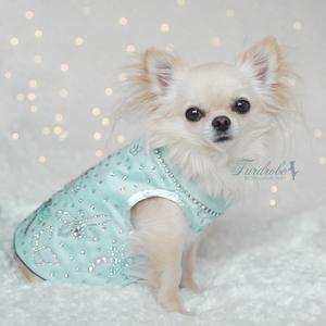Tiffany Dreams Silk Dog Jacket In 2020 Dog Jacket Silk Jacket Sleeveless Jacket