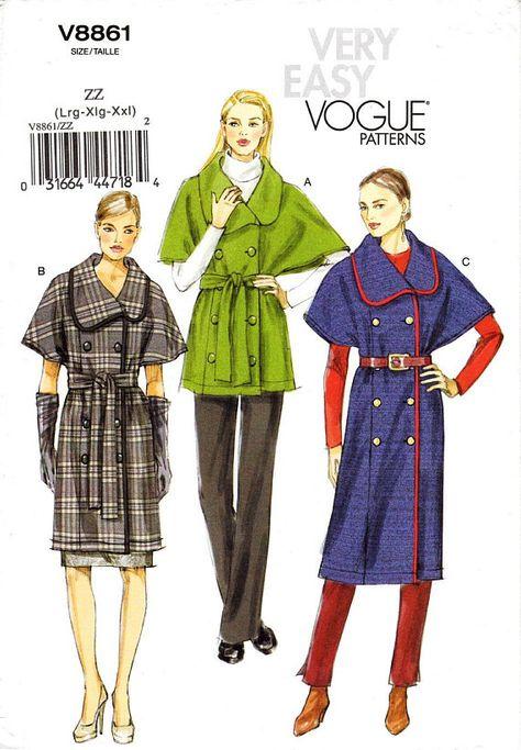 Size ZZ Vogue Patterns V9112 Misses Dress LRG-XLG-XXL