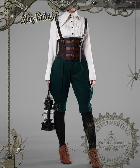 Designer Clothes, Shoes & Bags for Women Medieval Clothing, Steampunk Clothing, Steampunk Fashion, Victorian Fashion, Steampunk Pants, Moda Steampunk, Steampunk Costume, Cosplay Outfits, Character Outfits
