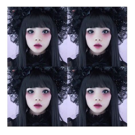 new Halloween makeup tutorial - gothic Lolita doll is out !! check it out @ prin...