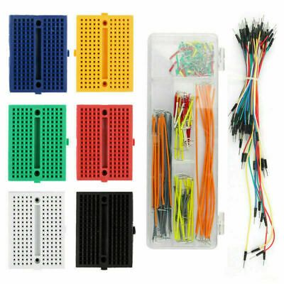 Breadboard 170 Tie Point Mini Prototype Pcb Solderless With Hole Jumper Wire Ebay In 2020 Prototype Board Mini Extension Board