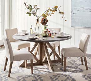 Hart Reclaimed Extending Pedestal Dining Table Pottery Barn Round Dining Room Round Dining Room Table Round Pedestal Dining Table