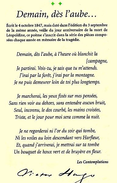 Related Image French Quotes French Poems Victor Hugo