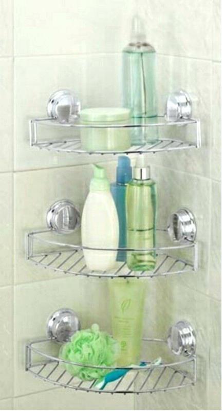 23 Stunningly Corner Shelf Ideas A Guide For Housekeeping Shower Organization Shower Storage Bathroom Organization