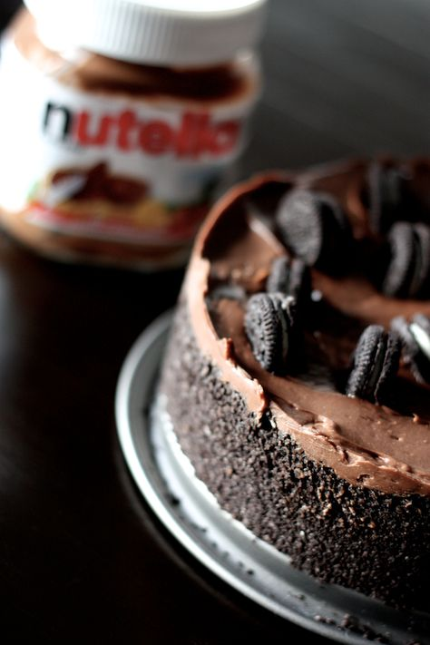 Cheesecake sans cuisson au Nutella®, chocolat et Oreos® (sans oeufs ni beurre)  (par Lucie Barthélémy)