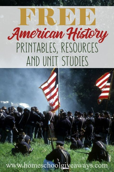 FREE American History Printables, Resources and Unit StudiesYou can find American history and more on our website.FREE American History Printables, Resources and Unit Studies History Lessons For Kids, History Lesson Plans, History Activities, Study History, Us History, History Timeline, History Facts, History Photos, History Projects