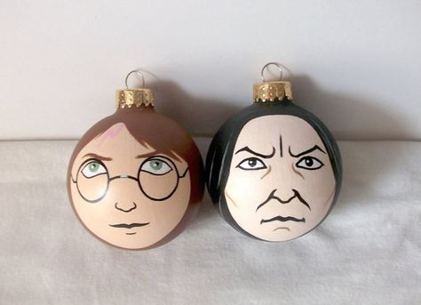 Harry Potter Painted Holiday Christmas Ornament Xmas by GingerPots, $18.00