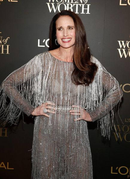 Andie MacDowell attends the L'Oreal Paris Women of Worth Celebration at The Pierre Hotel.