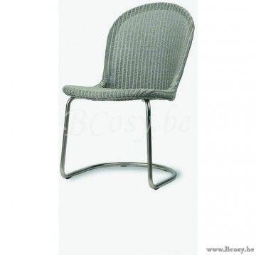 Vincent Sheppard Yann Dining Chair Black Cantilever Base Pebble