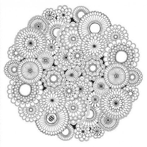 Mandala Da Colorare Difficili Cerca Con Google Libri Da
