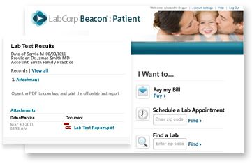 Labcorp Beacon Patient Home Medical Health Pinterest