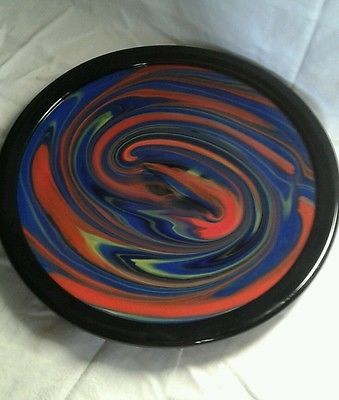 O.Missoni piatto Mercurio285 Arte Vetro Murano anni 80 firma pubblicato Barovier