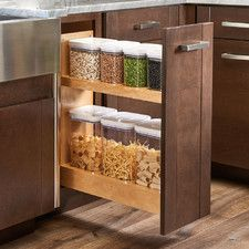 Pull-Out Wood Base Cabinet OXO Organizer
