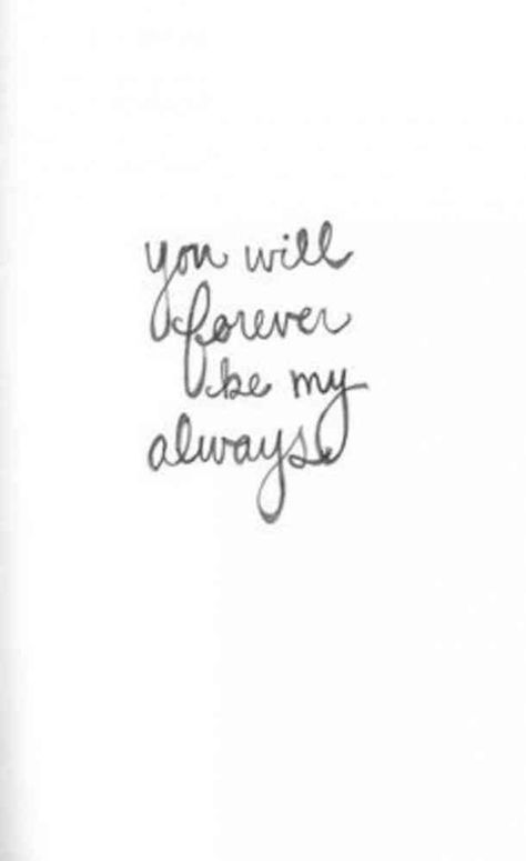 """""""You will forever be my always"""" #national-girlfriends-day #girlfriend-quotes #I-love-you #love-quotes #romantic-quotes #quotes Follow us on Pinterest: www.pinterest.com/yourtango"""