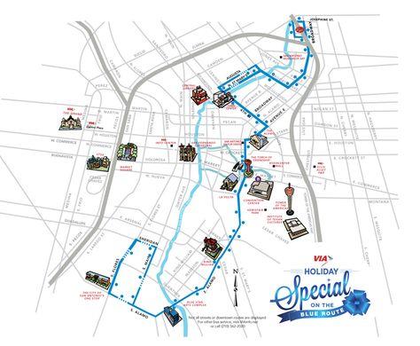 san antonio bus routes map Route Map Click To Enlarge Holidays And Events Holiday Via Bus san antonio bus routes map