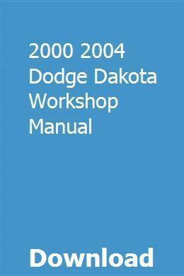 2000 2004 Dodge Dakota Workshop Manual Repair Manuals Impreza Wrx