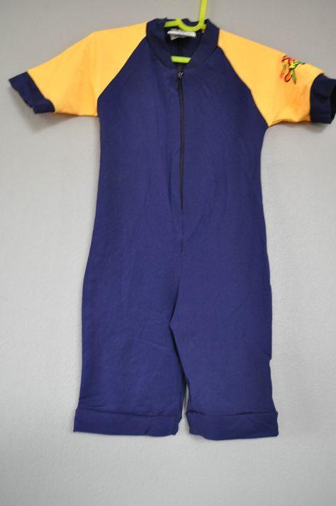 d2de0d0d27 Radicool Rash Guard SPF UPF Swimwear Baby Boy Toddler Navy Wetsuit sz 1 2 4  NWT