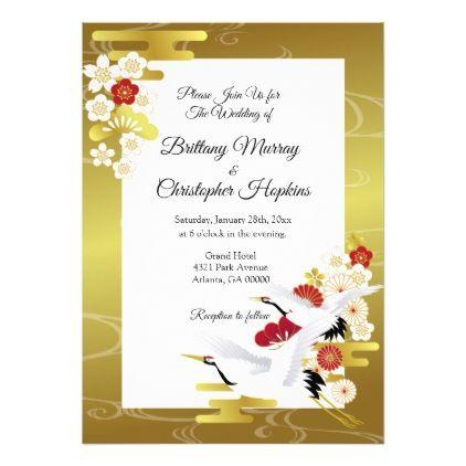 Elegant Japanese Style Wedding Invitation Zazzle Com