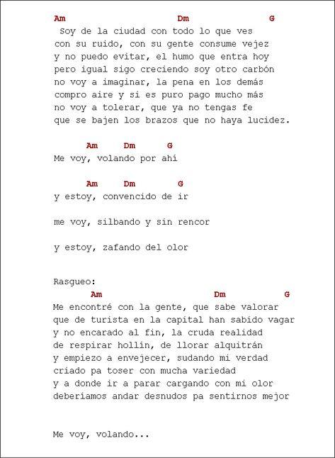 Letra Y Acordes De Zafar De La Vela Puerca Canciones De Ukelele Letras Y Acordes Acordes De Ukelele