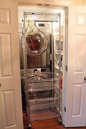 Hallway Laundry Closet And Ironing Center A Solution For Small
