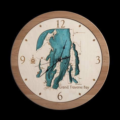3d lake art clock aftcra gift ideas gifts for him pinterest