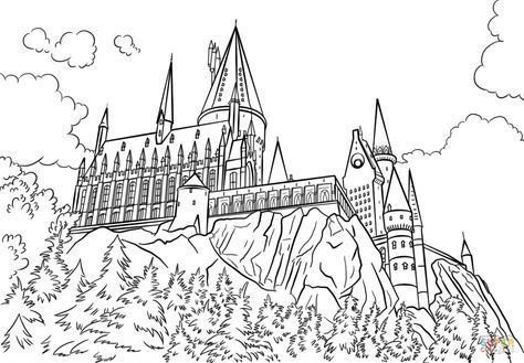 Hogwarts Castle coloring page from Harry Potter category. Select ...