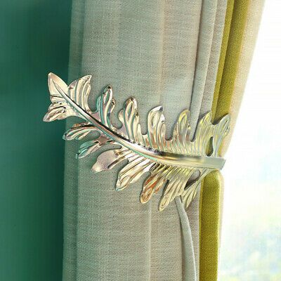 Sponsored Link Leaves Design Holder Curtain Holdback Metal Tie Hook Loop Holder In 2020 Leaf Curtains Curtains Curtain Tie Backs