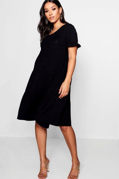 0b8205e4253 Maternity Tiered Ruffle Smock Dress | styling amy. | Dresses, Smock ...