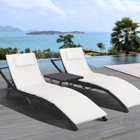 walnew 3 pcs patio furniture outdoor
