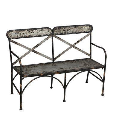 Pleasing Loving This Galvanized Metal Double Chair Bench On Zulily Ibusinesslaw Wood Chair Design Ideas Ibusinesslaworg