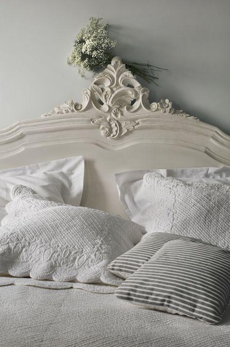 120-decoration-lit-blanc   Décoration lit, Chambre à coucher ...