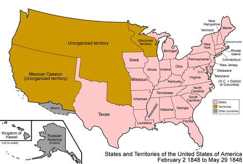 Overview Map Of The War Key Disputed Territory United States - Us mexico states districts map