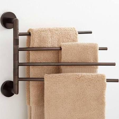 Oil Rubbed Bronze Towel Rack Multiple Towels Google Search Towel Holder Bathroom Bathroom Towel Bar Towel Bar