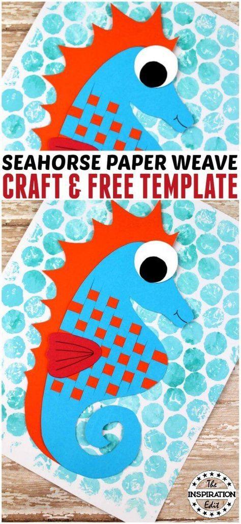 Fantastic Paper Weave Seahorse Craft