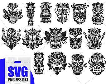 Tear Drop Svg Dragon Amulet Svg Dragon Silhouette Dragon Etsy Tiki Tattoo Hawaiian Tattoo Hawaiian Tribal Tattoos