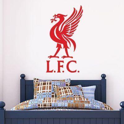 Liverpool Football Club Lfc And Liver Bird Crest Wall Sticker