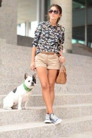 my style-horse shirt, belt, long brown purse, casual sidekick dog, and converse.