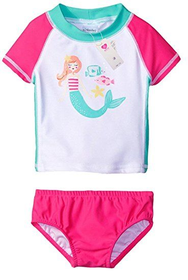 Short Sleeve Rashguard Suit Little Me Childrens Apparel Baby and Toddler Girls UPF 50