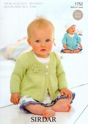 "BABY GIRLS 0-7 YEARS  FLOWER CARDIGAN   Knitting Pattern  DK 16-26 /"" 92."