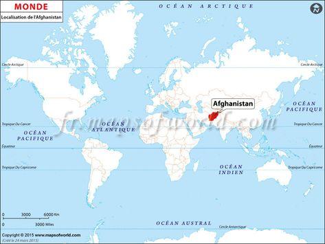 Où est l\'Afghanistan - Location of #Afghanistan on World map ...