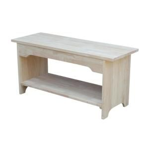 International Concepts Unfinished Bench Be 36 The Home Depot Wood Storage Bench Wood Storage Sturdy Furniture
