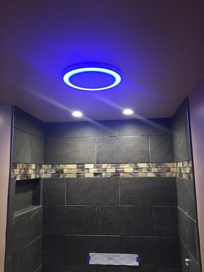 led lights bath fan bathroom exhaust fan